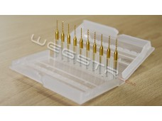 set 10 pcs 0.7 mm Drill Bits Tool - Titanium Nitride Coated