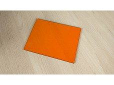 plexiglass orange - 165 x 122 x 3 mm