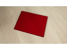 plexiglass red - 165 x 122 x 3 mm
