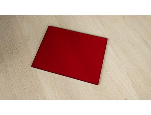 plexiglass red - 165 x 122 x 3 mm